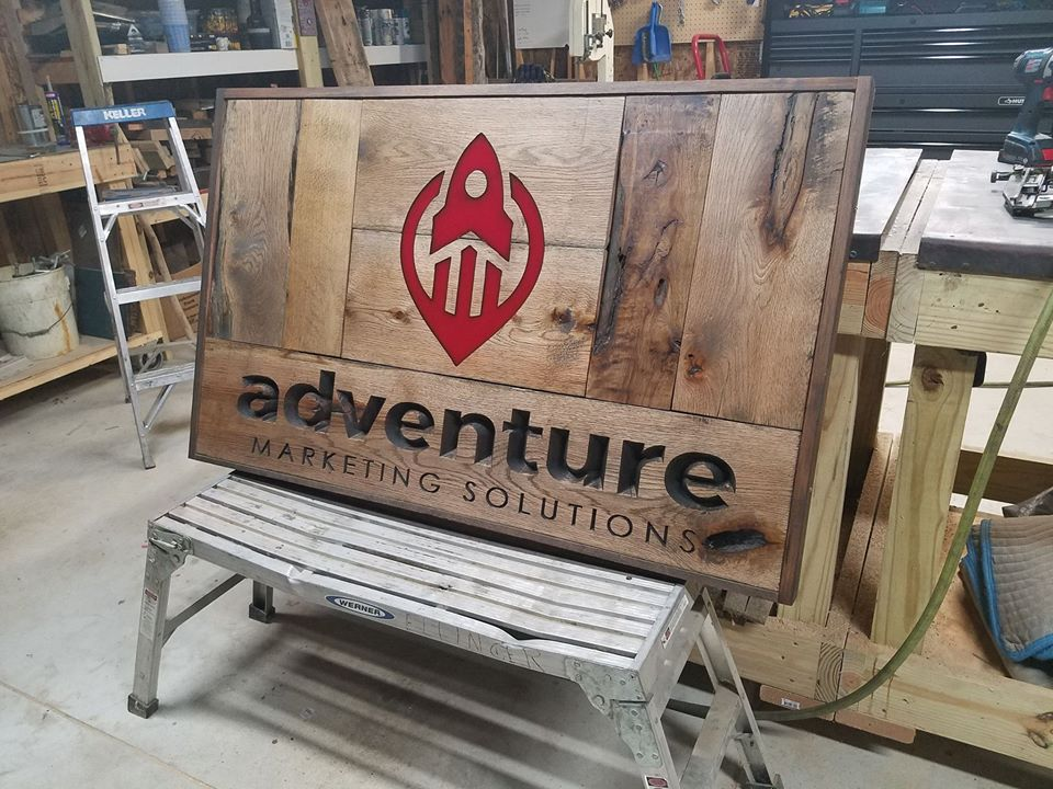 Check Out Our Cool New Sign