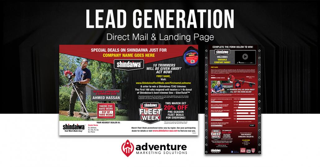 Project Recap Shindaiwa Direct Mail & Landing Page