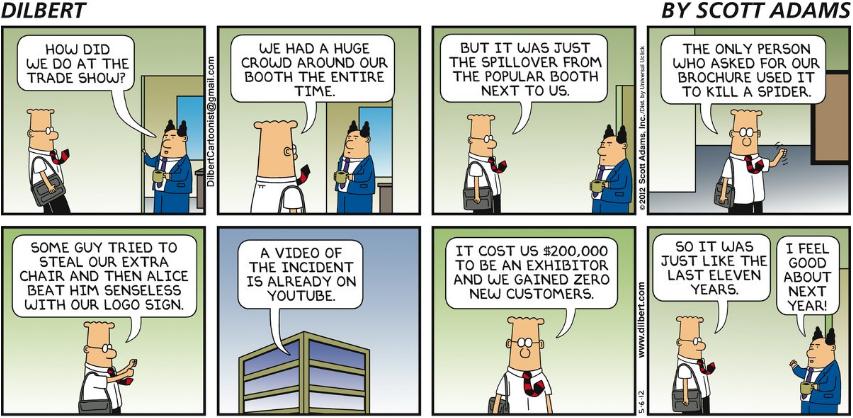 Tradeshow cartoon