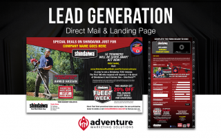 Project Recap Shindaiwa Direct Mail & Landing Page