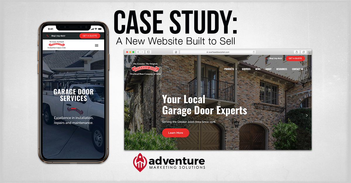 Case Study: Overhead Door Company of Joliet Website