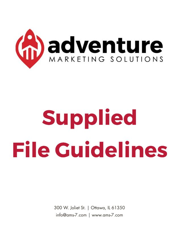 Adventure Supplies File Guidelines