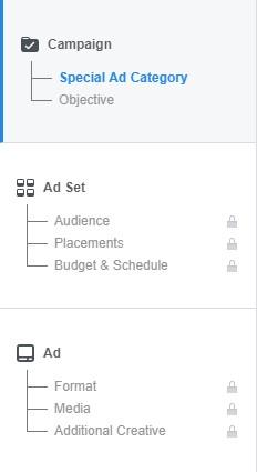 Facebook Ad Menu