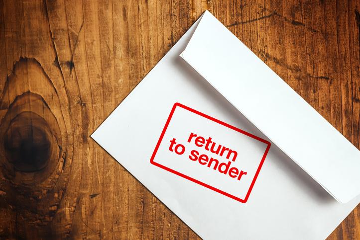 Envelope Marked Return to Sender